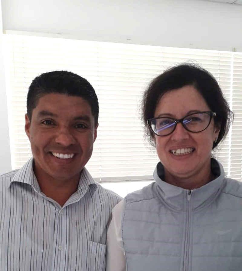 Ing. Carlos Durán y la Ing. Elisa Portigliatti