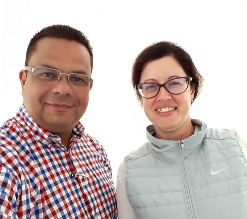 Ing. Raúl Colmenárez y la Ing. Elisa Portigliatti